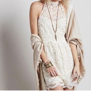 🍁Free People Lost in a Dream lace dress